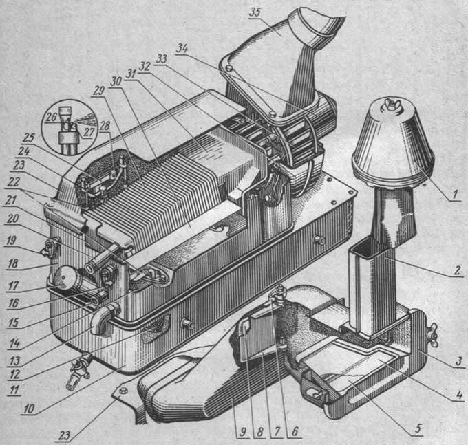 Блок отопления и охлаждения воздуха кабины МТЗ-80, МТЗ-82