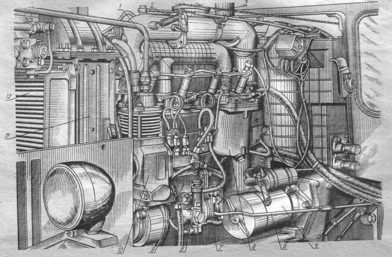 Дизель Д-240 (вид слева)