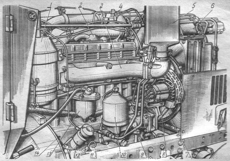 Дизель Д-240 (вид справа)