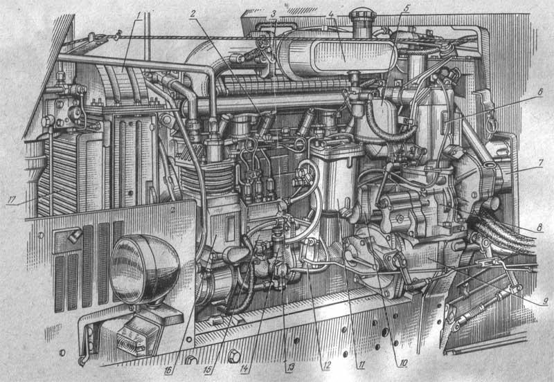 Дизель Д-240Л (вид слева)