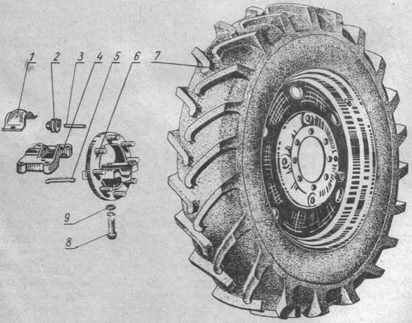 Ведущие колеса трактора МТЗ-80, МТЗ-82