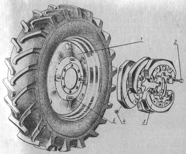 Установка дополнительных грузов на диск заднего колеса