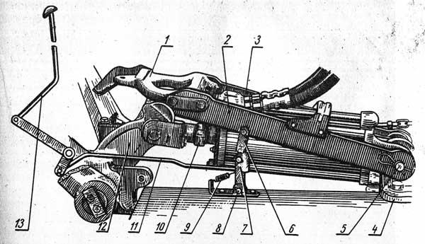 Механизм фиксации навесного устройства