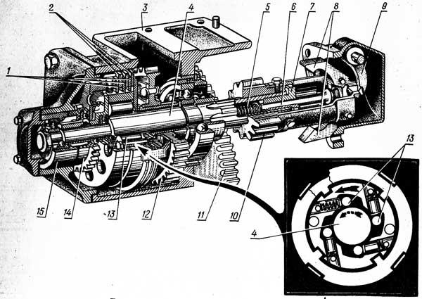 Редуктор пускового двигателя