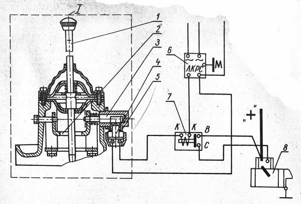 Схема блокировки запуска двигателя Д-240