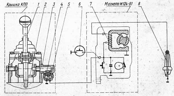 Схема блокировки запуска двигателя Д-240Л