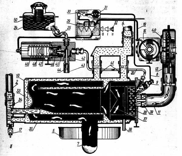 Схема предпускового подогревателя ПЖБ-200Б