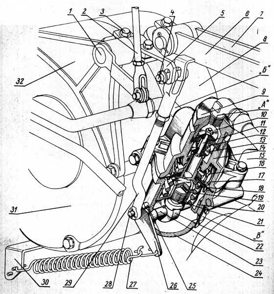 Тормозной кран и его привод