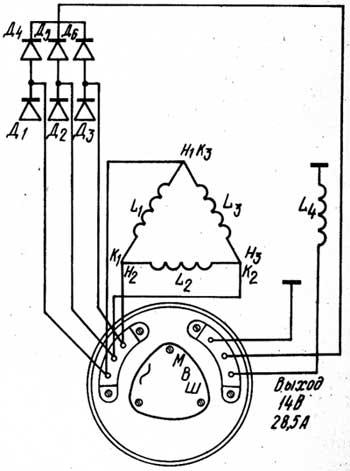 Электрическая схема генератора Г-306Д