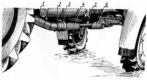 Ограждение карданного привода переднего ведущего моста