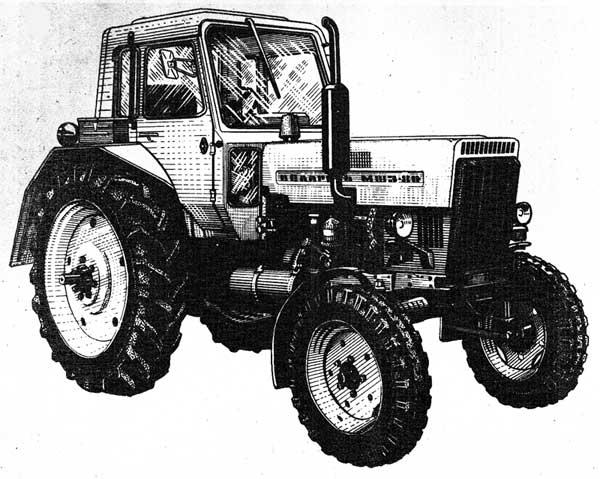 """Трактор """"Беларусь"""" МТЗ-80 (вид справа)"""