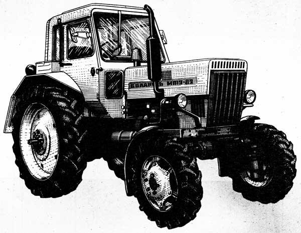 """Трактор """"Беларусь"""" МТЗ-82 (вид справа)"""