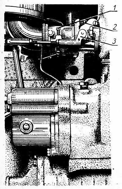 Карбюратор пускового двигателя