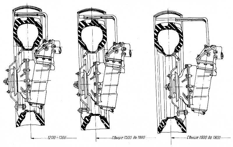Схема установки передних колес тракторов МТЗ-82 и МТЗ-82Л на различную колею